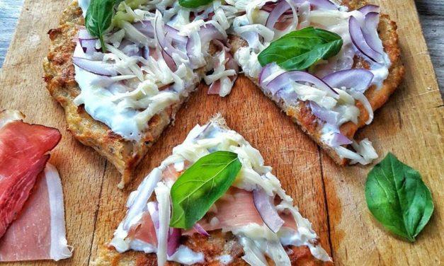 Thunfisch-Topfen-Pizzateig (glutenfrei, hefefrei, kann auch milchfrei zubereitet werden, sojafrei)