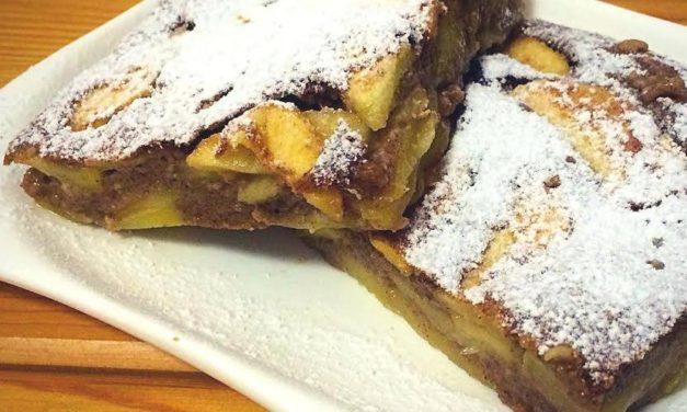 Apfelkuchen Light mit Pudding (glutenfrei, milchfrei, ohne Zuckerzusatz, sojafrei, Paleo)