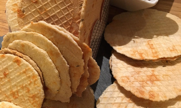 Käse-Waffeln (glutenfrei, kohlenhydratreduziert, milchfrei, sojafrei, Paleo)