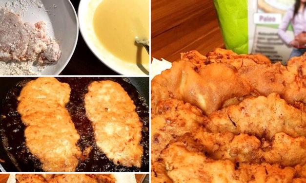 Kohlenhydratreduziertes paniertes Fleisch – mit der Safi Reform Langos Backmischung (glutenfrei, milchfrei, sojafrei)