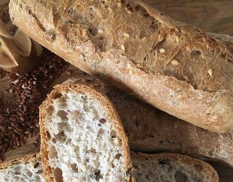 Kornbaguette, Bagel  (glutenfrei, hefefrei, kohlenhydratreduziert, milchfrei, sojafrei)
