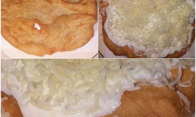 Langos aus Kartoffelteig (eifrei, glutenfrei, hefefrei, milchfrei, sojafrei, vegan)
