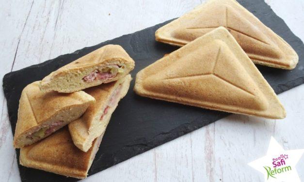 Sandwich, warm (glutenfrei, hefefrei, kohlenhydratreduziert, milchfrei, ohne Brot, sojafrei, Paleo)