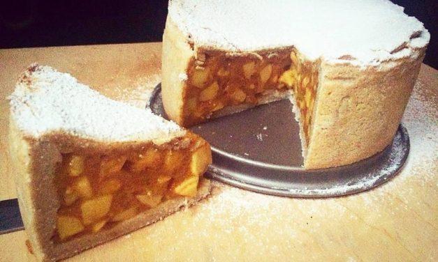 Apfeltorte mit Pudding (eifrei, glutenfrei, kohlenhydratreduziert, milchfrei, sojafrei, vegan, Paleo)