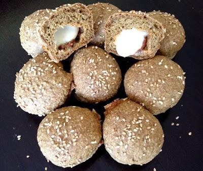 Mini-Pizzakugeln aus Haferflocken (eifrei, glutenfrei, haferfrei, hefefrei, milchfrei)
