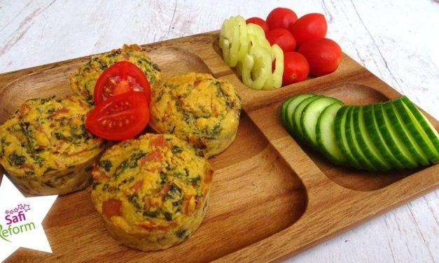 Schinken-Muffins mit Bärlauch (glutenfrei, kohlenhydratreduziert, milchfrei, Paleo)