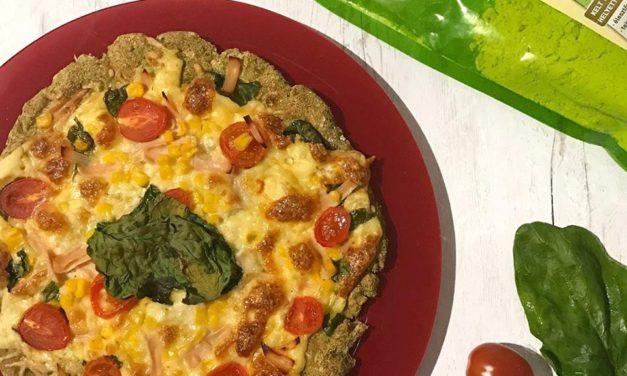 Pizza mit Brokkoli (glutenfrei, hefefrei, milchfrei, sojafrei)