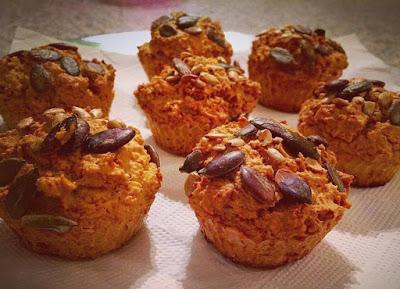 Muffins (glutenfrei, kohlenhydratreduziert um 55%, milchfrei, Paleo)