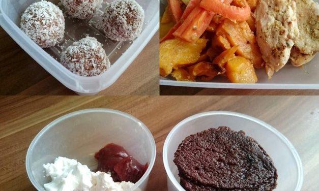 Speiseplan für die Essensbox (glutenfrei, milchfrei)