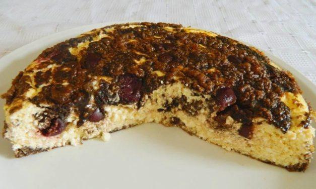 Fitness-Torte mit Kakao-Topfen und Haferflocken (kann auch glutenfrei zubereitet werden)