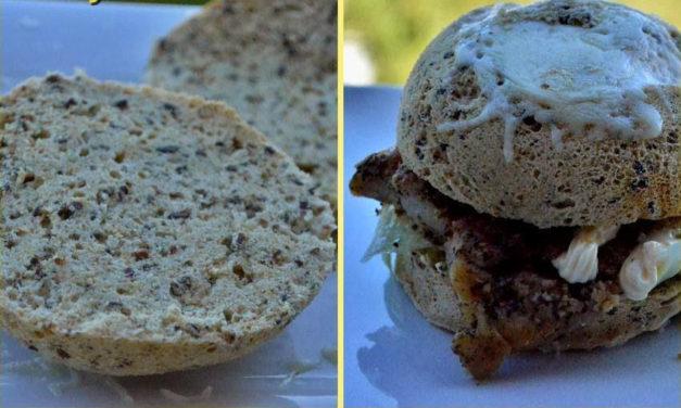 Hamburgerbrötchen aus der Mikrowelle (glutenfrei, milchfrei, Paleo)