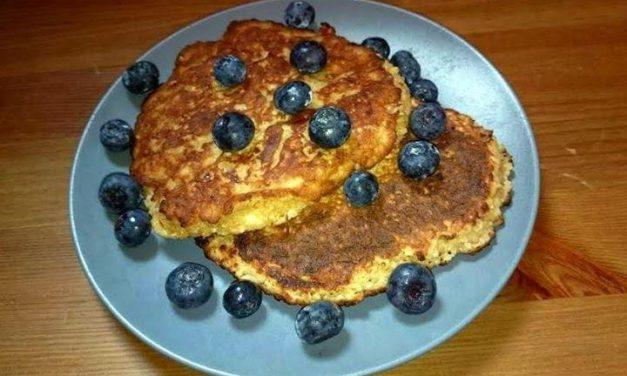 Amerikanische Pfannkuchen aus Haferflocken-Topfen (kann auch glutenfrei zubereitet werden, milchfrei)