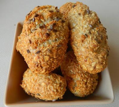 Haferflocken-Brötchen, Baguette (glutenfrei, hefefrei, milchfrei)