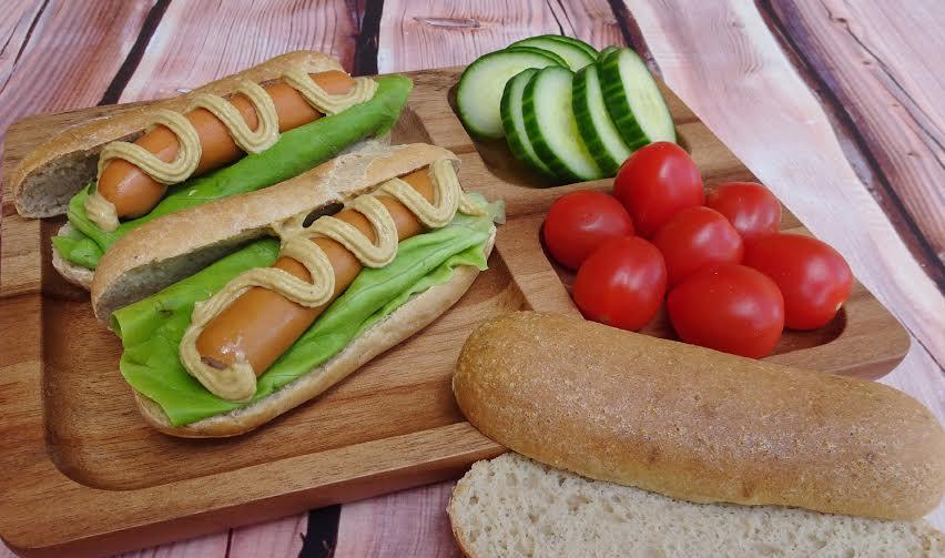 Hotdog, Hamburgerbrötchen (glutenfrei, hefefrei, kohlenhydratreduziert, milchfrei, sojafrei, Paleo)