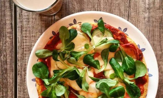 Pizza mit Thunfisch (glutenfrei, kohlenhydratreduziert: weniger als 5g, milchfrei, Paleo)