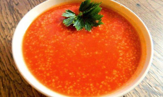 Tomatensuppe mit Couscous (glutenfrei, milchfrei)