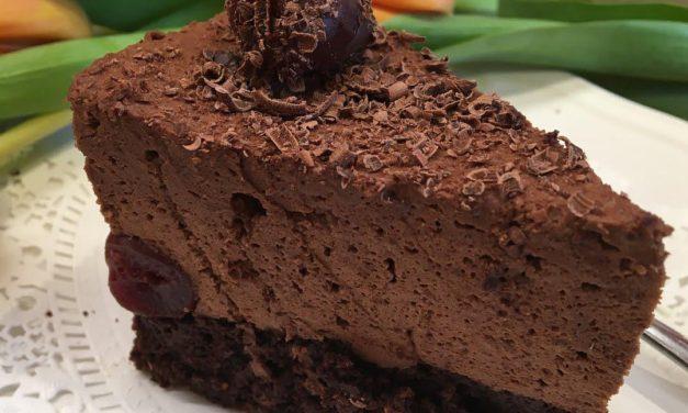 Schokomousse-Torte (glutenfrei, kohlenhydratreduziert, milchfrei, ohne Zuckerzusatz, sojafrei, Paleo )