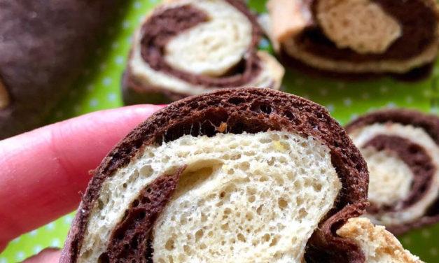 Baumstamm-Kipferl (eifrei, glutenfrei, hefefrei, milchfrei, ohne Zuckerzusatz, sojafrei, vegan)