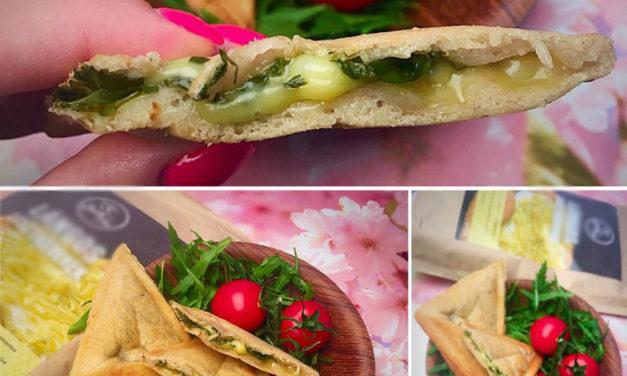 Warme Sandwiches aus der Langos Backmischung (eifrei, glutenfrei, milchfrei, sojafrei, vegan)