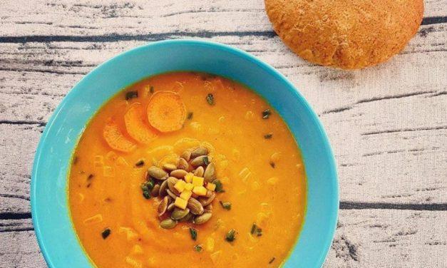 Karottencremesuppe mit Ingwer (glutenfrei, milchfrei, sojafrei, vegan, Paleo)