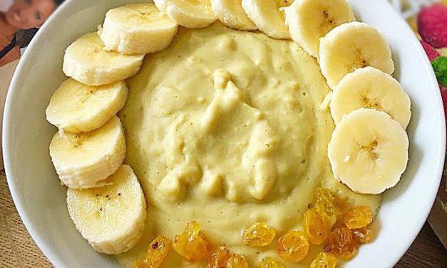Protein-Haferpudding (fettarm, glutenfrei, milchfrei, ohne Zuckerzusatz, sojafrei, vegan)