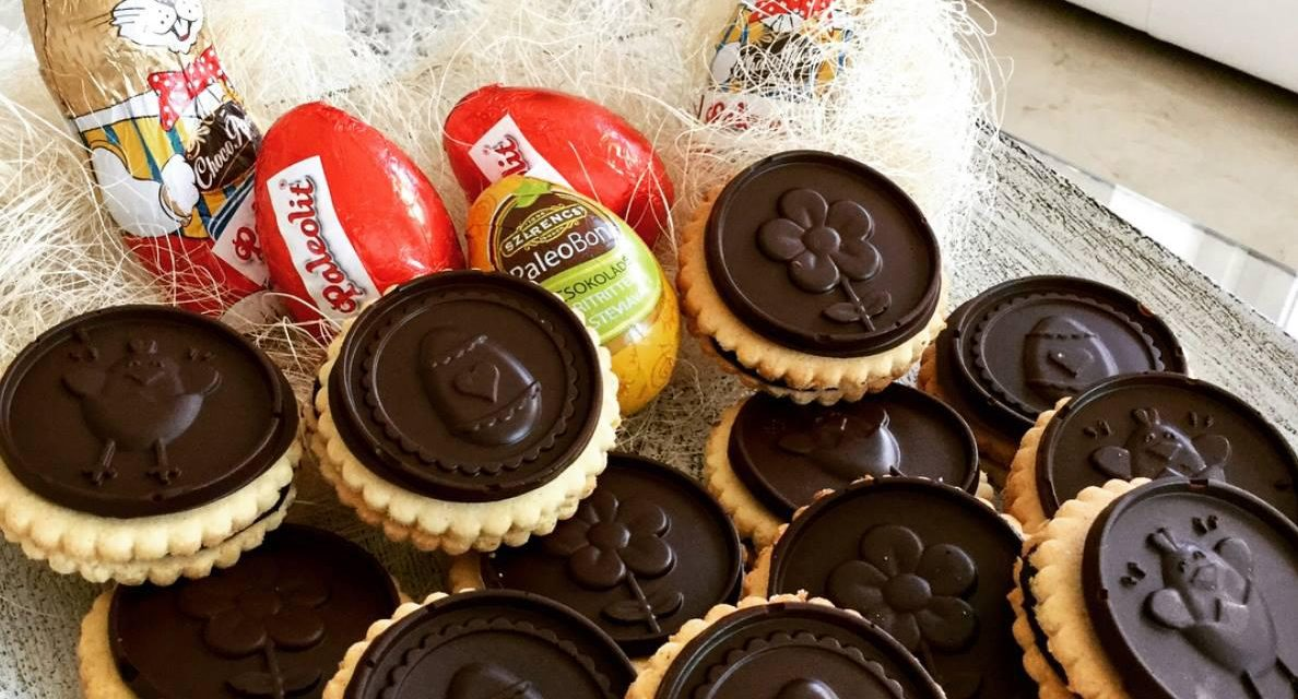 Linzer-Kekse (glutenfrei, kohlenhydratreduziert, milchfrei, ohne Zuckerzusatz, Paleo)