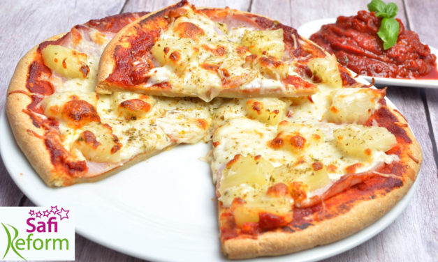 Pizza (glutenfrei, hefefrei, stark kohlenhydratreduziert)