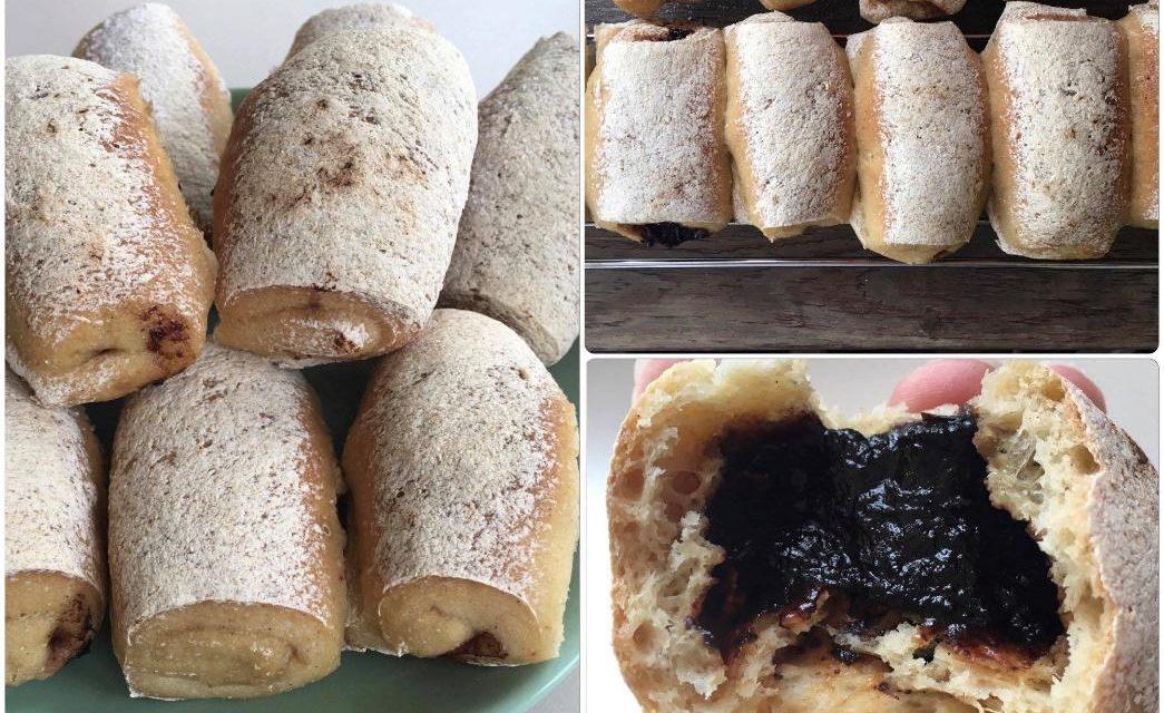 Buchteln mit Marmelade (eifrei, fettarm, glutenfrei, milchfrei, sojafrei, vegan)