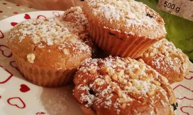 Protein-Beeren-Hafermuffins (glutenfrei, milchfrei, ohne Zuckerzusatz)