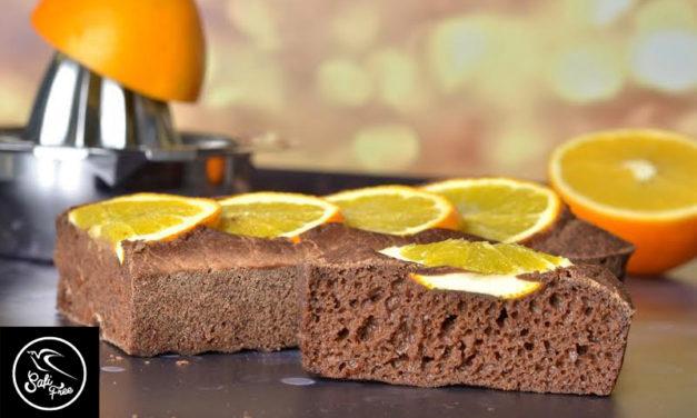 Süßes Orangen-Rosinen-Karob-Biskuit (eifrei, fettfrei, glutenfrei, milchfrei, ohne Süßungsmittel, ohne Zuckerersatz)