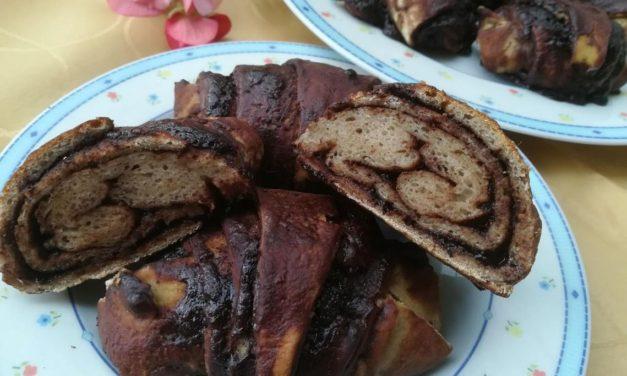 Schoko-Croissants / -Schnecken / -Kuchen mit reduziertem Ballaststoffgehalt (eifrei, glutenfrei, milchfrei, vegan)