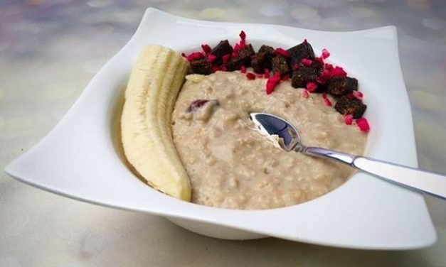 Brauner Reiskeim Protein Haferbrei (glutenfrei, milchfrei, sojafrei, vegan)