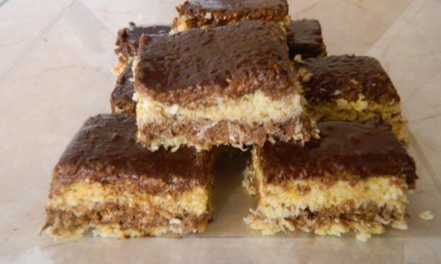 Zebrakuchen ohne Backen aus Haferflocken (eifrei, auch glutenfrei möglich, milchfrei, ohne Zuckerzusatz, vegan)