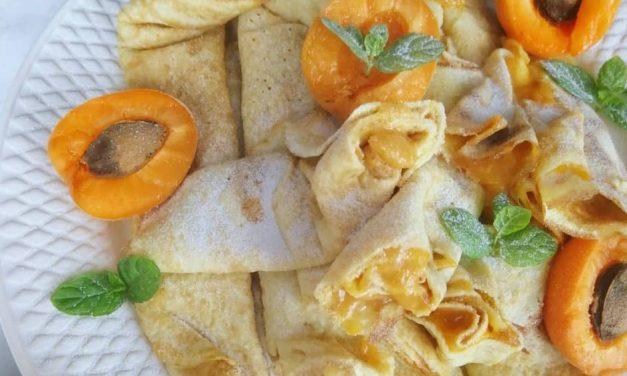 Palatschinken aus Safi Reform Kuchenmehl (glutenfrei, kohlenhydratreduziert, milchfrei, ohne Zuckerzusatz, Paleo)