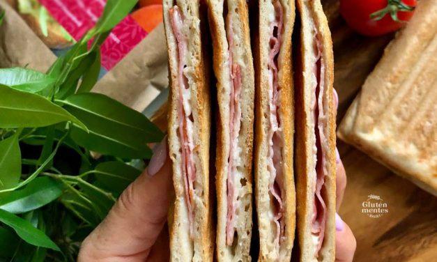 Sandwich mit reduziertem Ballaststoffgehalt (eifrei, glutenfrei, milchfrei, sojafrei, vegan)