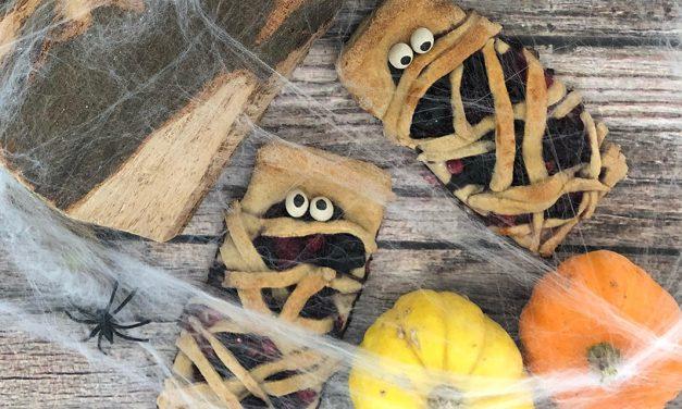 Halloween Mumien (eifrei, glutenfrei, hefefrei, milchfrei, ohne Zuckerzusatz, vegan, Paleo)
