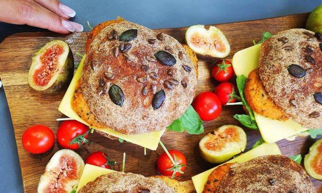 Brötchen (eiweißhaltig, glutenfrei, milchfrei, vegan)