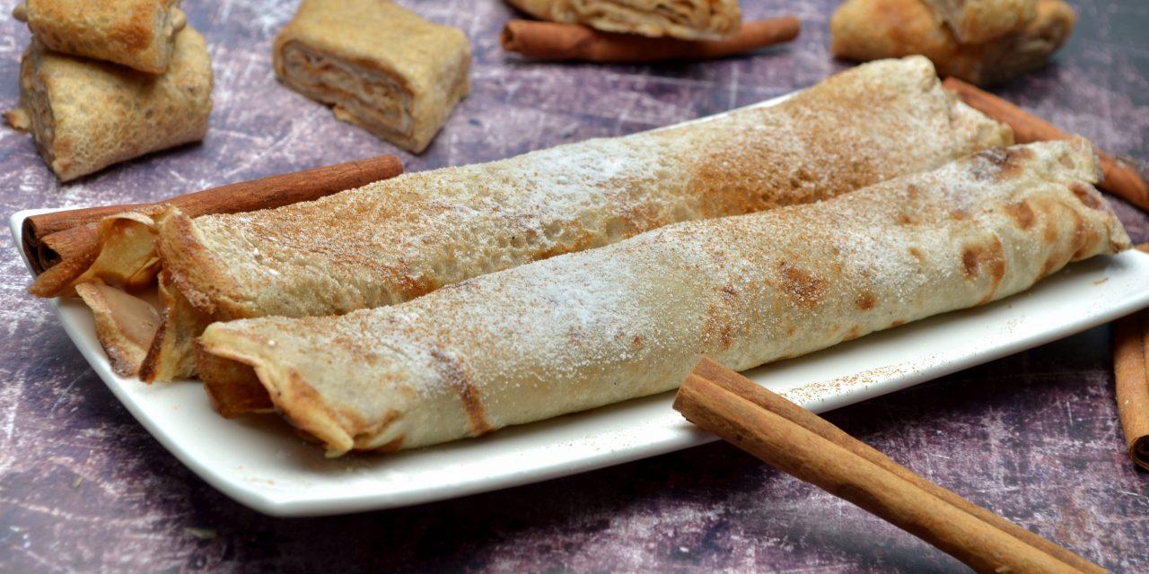 Safi Free eierfreier, fettarmer Pfannkuchen und vegane Zimt-Protein Creme (glutenfrei, milchfrei, sojafrei, ohne zugefügten Zucker, vegan)
