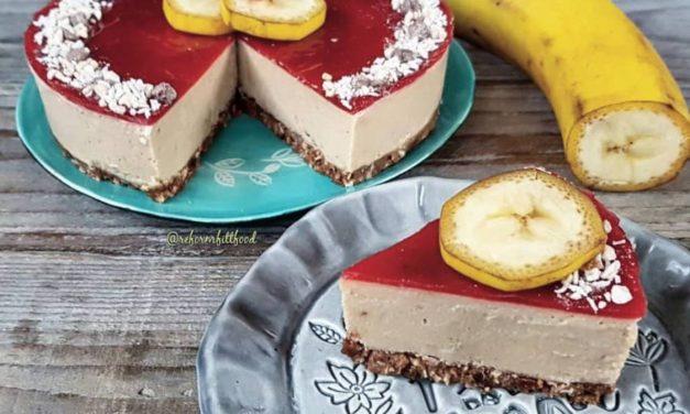 Safi Free Erdbeere-Banane Mousstorte ohne Backen