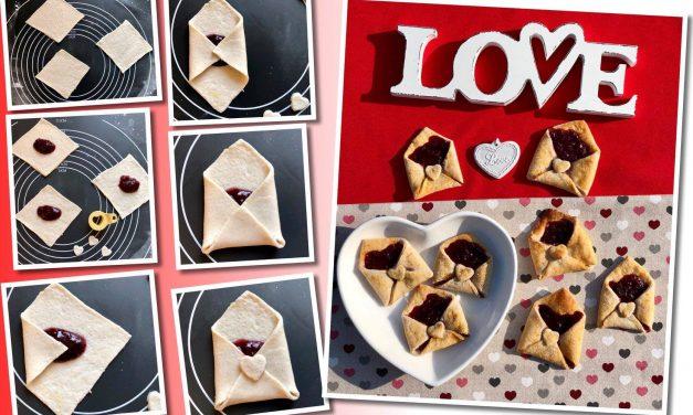 Safi Reform kohlenhydratarme, paleo Liebesbriefe mit Marmeladenfüllung (gluten-, milch-, soja- und hefefrei, vegan, ohne Eier und ohne zugefügten Zucker)
