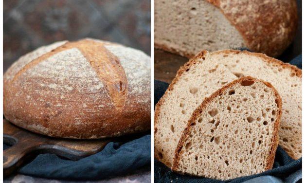 Glutenfreies Brot, gebacken in einer Eisenpfanne aus Safi Free Mehl