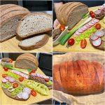 Glutenfreies Brot in einer Eisenpfanne gebacken