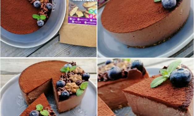 Veganer Kakao-Hafer-Pudding-Kuchen ohne Backen