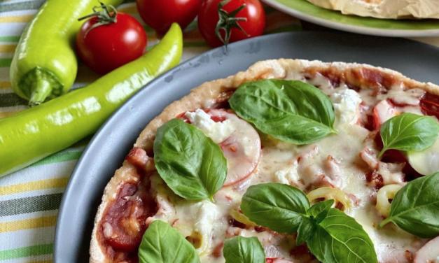 Pizza in der Pfanne
